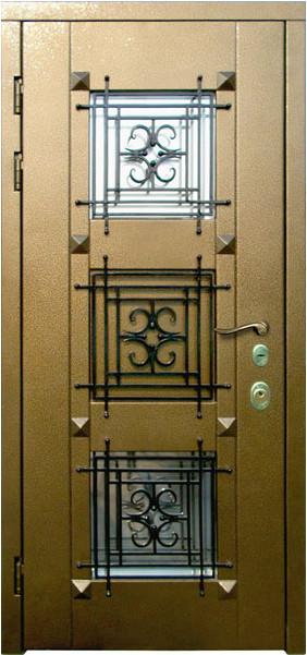 входная металлическая дверь коттеджная в